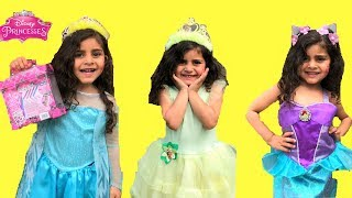 Sally Play Princess dress up and go to a Tea Party!! kids funny video