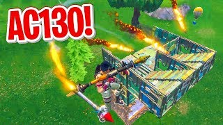 AC-130 GUIDED MISSILE ROCKET RIDE in Fortnite Battle Royale
