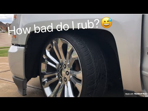 How Bad do 24s Rub on a lowered Silverado?