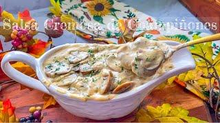 GRAVY Cremoso de Champiñones | Feliz día de Acción de Gracias |Happy Thanksgiving 🦃