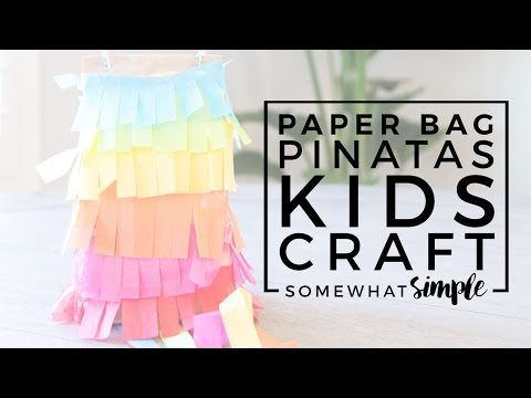 Easy To Make Paper Bag Pinatas - Fun DIY Craft Idea
