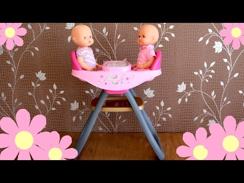 Baby Dolls Twin's Highchair – Twin Baby Dolls dinner Time Nenuco Baby Annabell