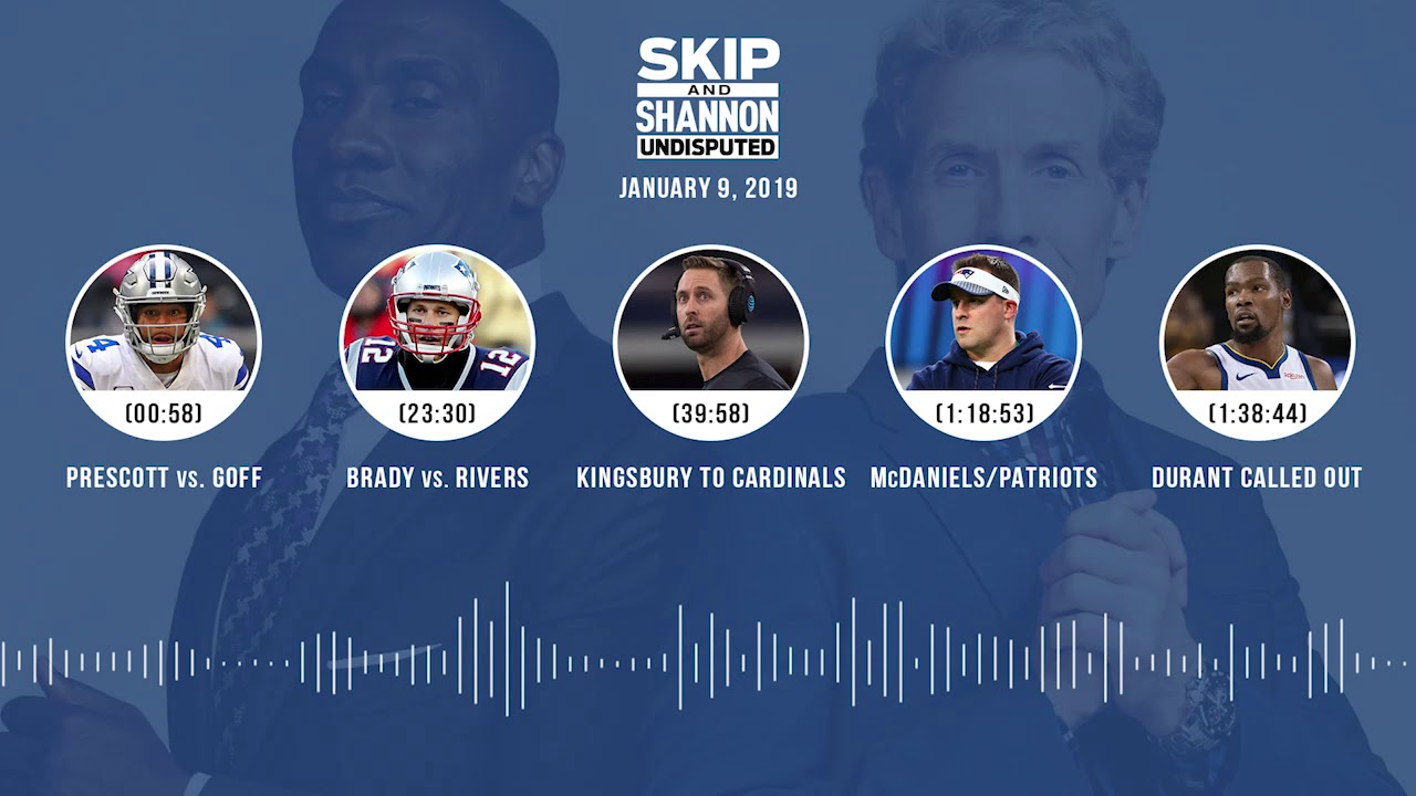 UNDISPUTED Audio Podcast (01.09.19) with Skip Bayless, Shannon Sharpe & Jenny Taft   UNDISPUTED