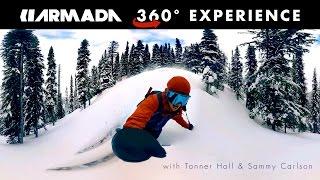 Armada 360° Backcountry Ski Experience starring Tanner Hall and Sammy Carlson (360 Video) thumbnail