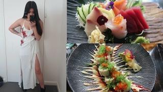 SUSHI & CHINESE FOOD | VLOG | MUKBANG | 2 YEAR ANI
