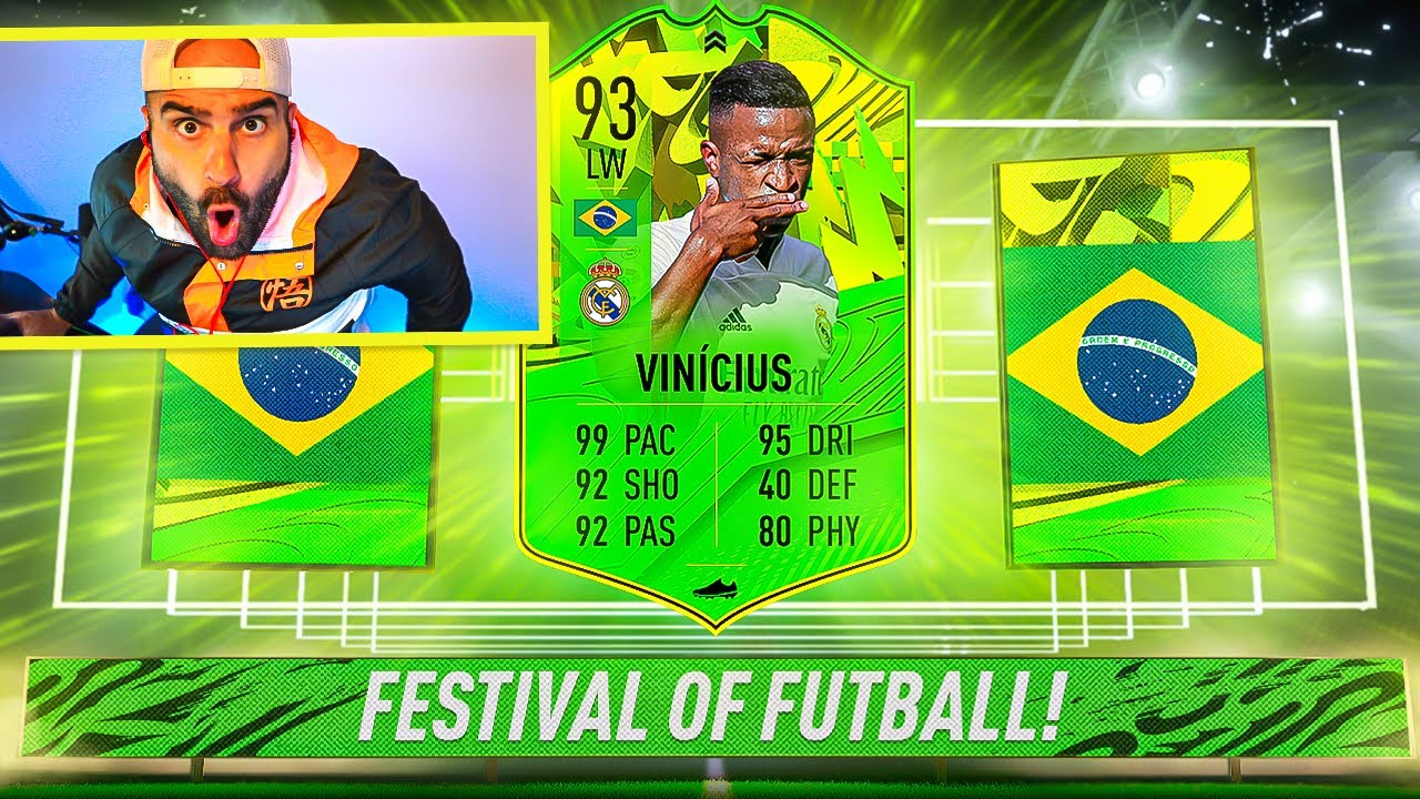 Omg I Got 93 Vinicius The Best Card In Fifa Fifa 21 Path To Glory Youtube