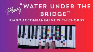 how to play sing water under the bridge adele   easy piano lesson using chords