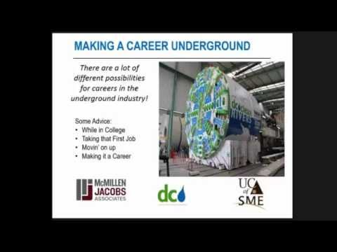 """UCA Young Members present """"The Excitement of Working Underground"""""""