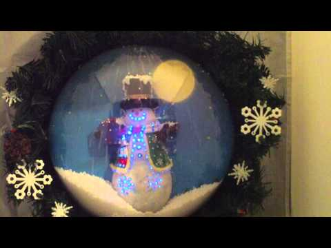 Animated lighted Musical Motion Activated Snowman Wreath
