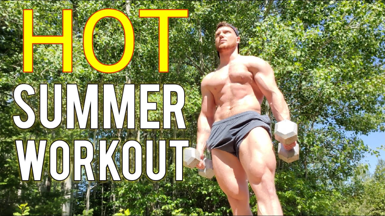 No Gym Outdoor Workout During A HOT Summer Day