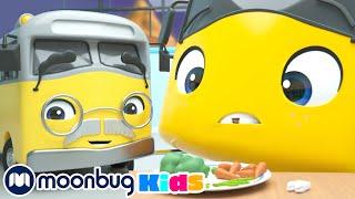 Шатается зуб! Все из-за конфет! | Автобус Бастер | Go Buster | Moonbug Kids