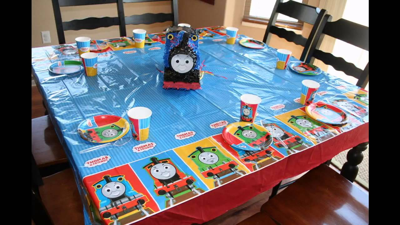 Cool Thomas The Train Birthday Party Ideas Youtube