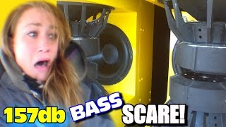 Horrified Sister BASS DEMO w/ EXO's 157db Subwoofer Sound System | Scaring Danyel w/ LOUD CAR AUDIO