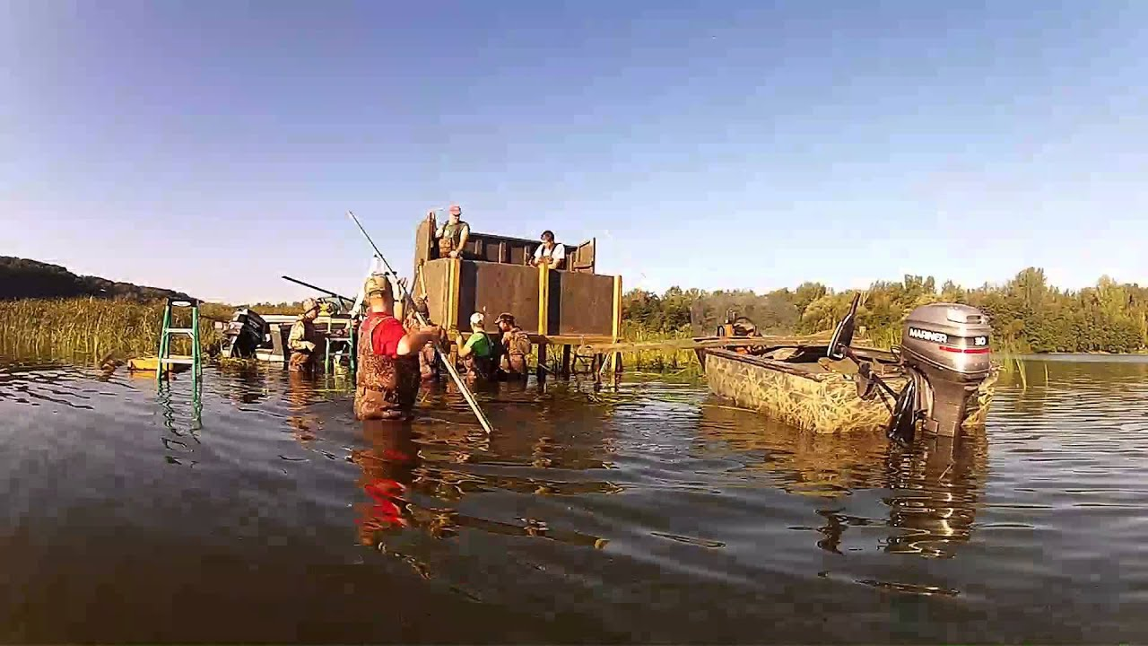 Duck Blind Build 2013 Youtube