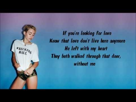 Miley Cyrus - Someone Else Karaoke / Instrumental with lyrics on screen