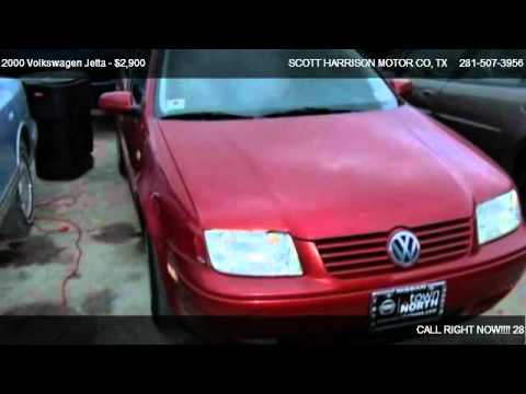 2000 volkswagen jetta gls for sale in houston tx 77038 for Scott harrison motors houston tx
