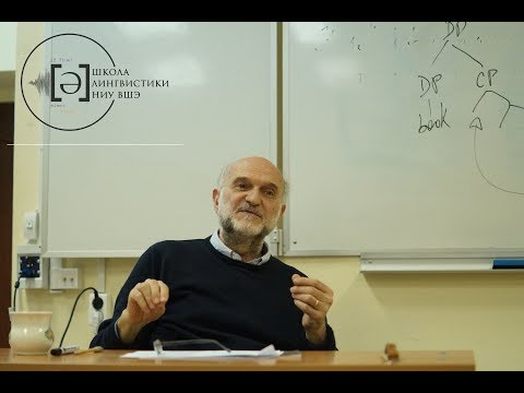 Guglielmo Cinque's mini-course on Formal Syntax and Universal Grammar. Lecture 1