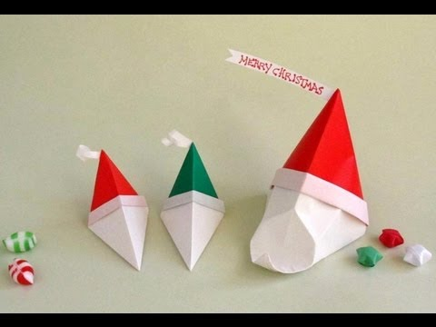 Origami santa claus instructions youtube - Santa Gift Box For Christmas Cajita Pap 225 Noel Youtube