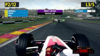 F1 2013 Gameplay using Thrustmaster GPX Lightback - Ferrari Edition