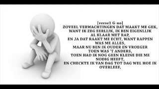G-no ft. Ries - Stress En Pijn (lyrics)