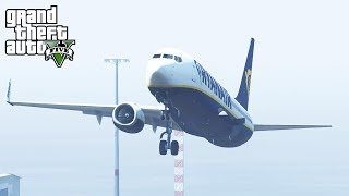 Landing A 737 With Only ONE Wing (GTA 5 Challenge)