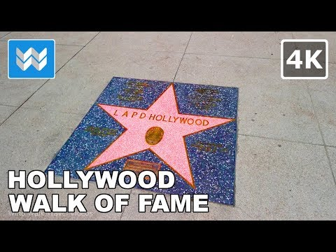 Walking Around Hollywood Blvd Walk Of Fame In Los Angeles, California 2019  🎧  【4K】