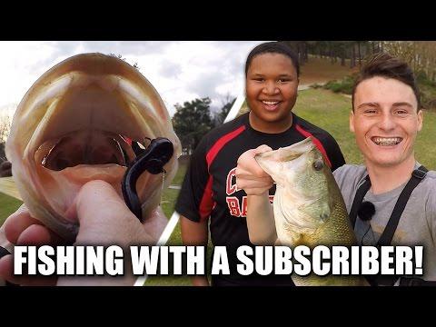 Bass Fishing With A Subscriber At A Lake! - Vlog (Moon Lake) | DALLMYD