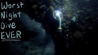 My Worst Night Dive EVER! (Flashlight Died at Bottom of River)