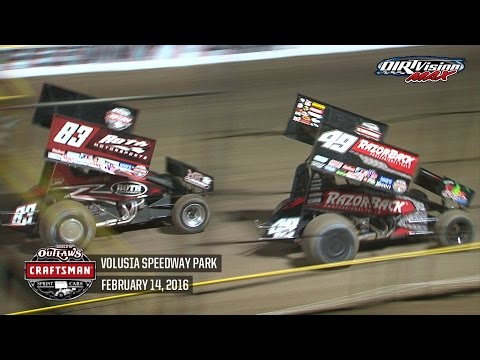 Highlights: World of Outlaws Craftsman Sprint Cars Volusia Speedway Park February 14th, 2016