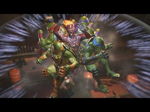 Injustice 2: TMNT Vs Firestorm | All Intro/Interaction Dialogues & Clash Quotes + Super Moves