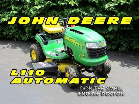 hqdefault john deere l110 automatic lawn tractor youtube