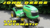 How to change the oil in a John Deere L110 lawn tractor - YouTube
