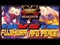SFV AE ☆  Fujimura (ibuki) vs AFG peace (Karin) Street fighter V Arcade edition