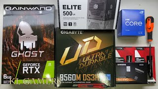 intel Core i7 11700 GIGABYTE B560M DS3H RTX2060 GHOST Q300L Gaming PC Build Benchmark
