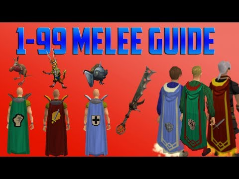 Runescape 3 - 1-99 Melee Guide 2018 - EASY Methods Up To 750k XP/hour