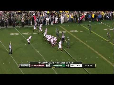 Painful way to lose the Rose Bowl Wisconsin vs Oregon (720p)