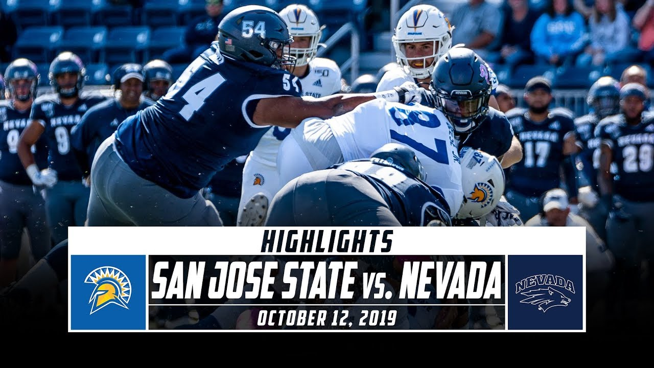 San Jose State Vs Nevada Football Highlights 2019 Stadium Youtube