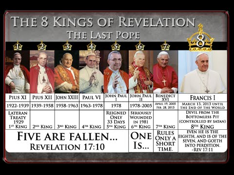 The Pope Fulfilling End Time Prophecy - Part 1