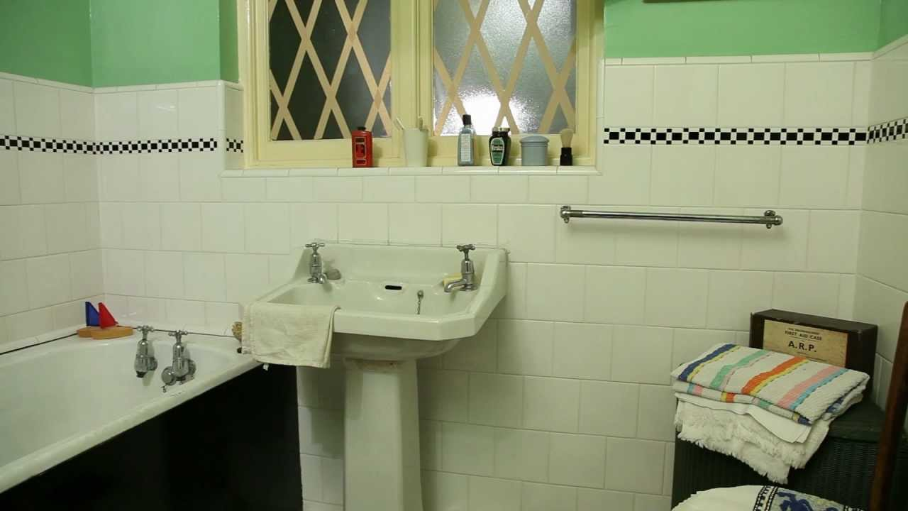 The 1940s house the bathroom and toilet youtube for Bathroom design 1930 s home
