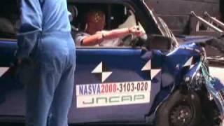 日本自動車研究所が自動車衝突実験を公開
