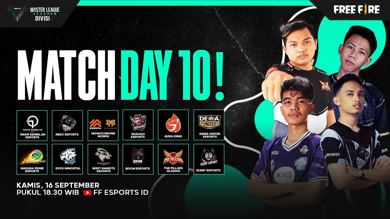 [2021] Free Fire Master League Season IV Divisi 2 - Match Day 10