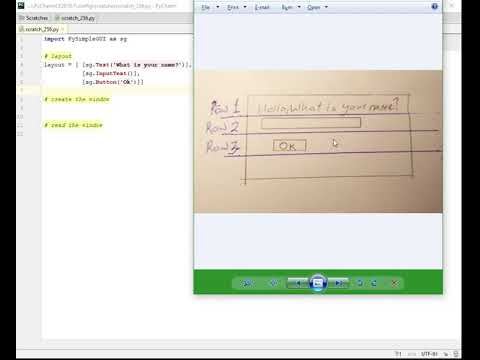 Lesson 1 - getting started - Tutorial - Beginning GUI Programming with  PySimpleGUI