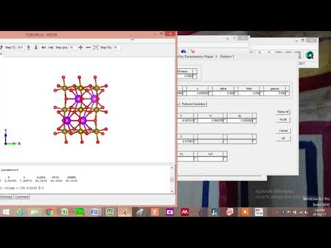 Repeat Rietveld Refinement PART 2 (how to create data file and PCR