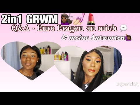 2in1 Q&A/GET READY WITH ME   ( Liebe, Zukunft, Boys, YouTube Etc.)   Itsmevica Ft. RuiYu Hair
