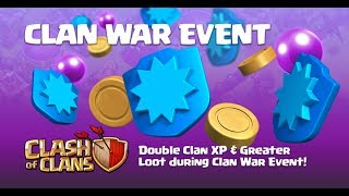 CLASH OF CLANS | DOUBLE EVERYTHING !!! | 2x Clan war Loot and 2x War XP Event | LIVE ATTACKS |