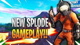 A Hint For New Fortnite Event? New SPLODE Skin Gameplay In Fortnite Battle Royale...
