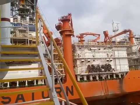 FULLY LOADED UT 755 LN BESIDE NIGERIAN  OFFSHORE INSTALLATION