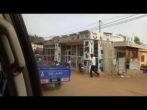Driving through Ouagadougou