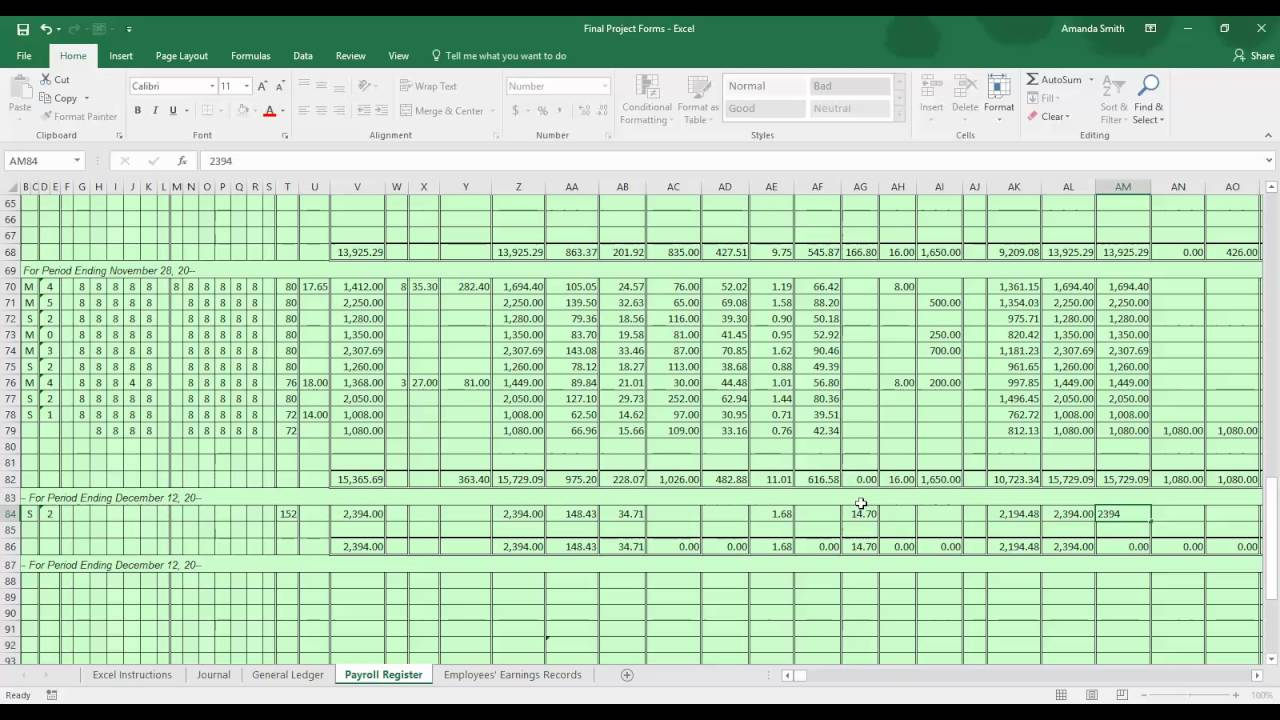Payroll Project Part 2 - YouTube