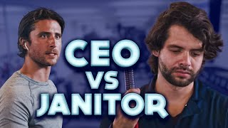 Arrogant CEO Fires Janitor. Janitor gets the last laugh